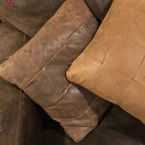 Leather pillows for Dom only